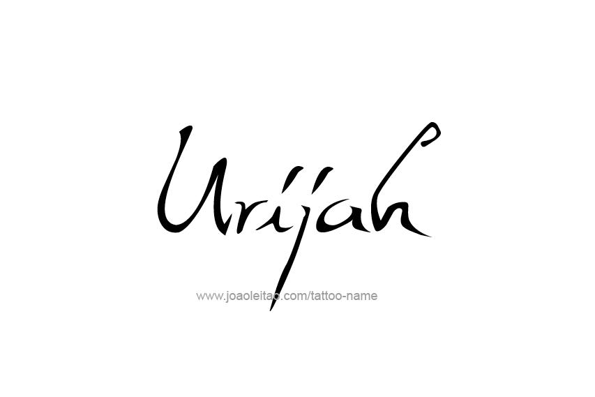 Urijah Name Tattoo Designs