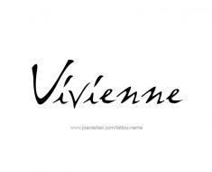 tattoo-design-name-vivienne-01