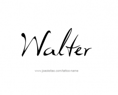 tattoo-design-name-walter-01