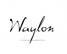 tattoo-design-name-waylon-01