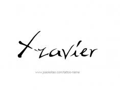 tattoo-design-name-xzavier-01