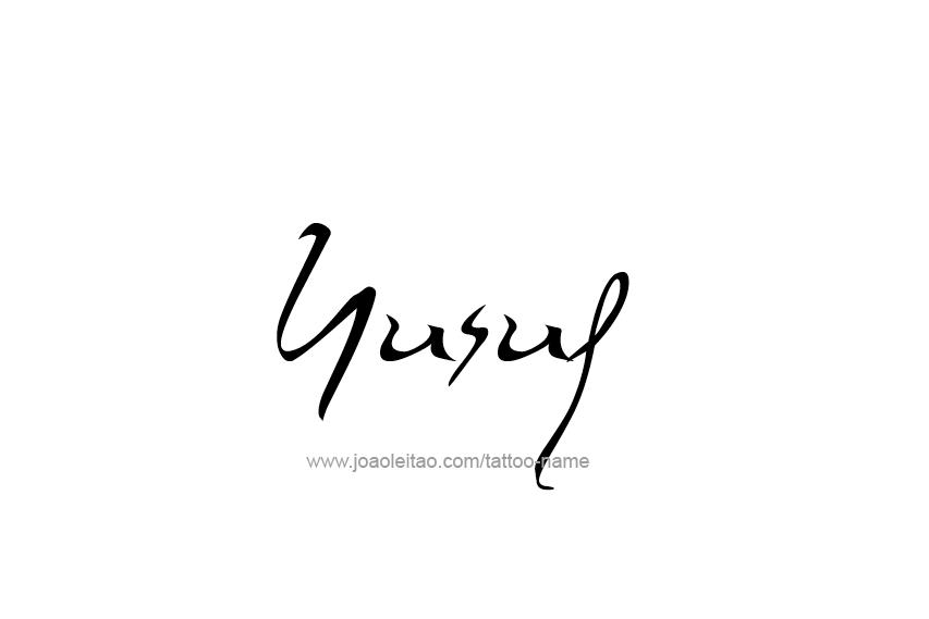 Yusuf Name Tattoo Designs