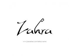 tattoo-design-name-zahra-01