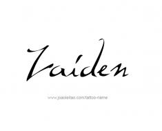 tattoo-design-name-zaiden-01