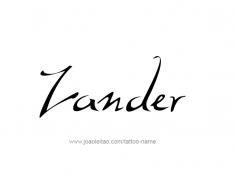 tattoo-design-name-zander-01