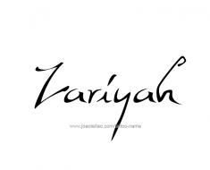 tattoo-design-name-zariyah-01