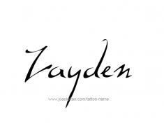 tattoo-design-name-zayden-01