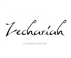 tattoo-design-name-zechariah-01