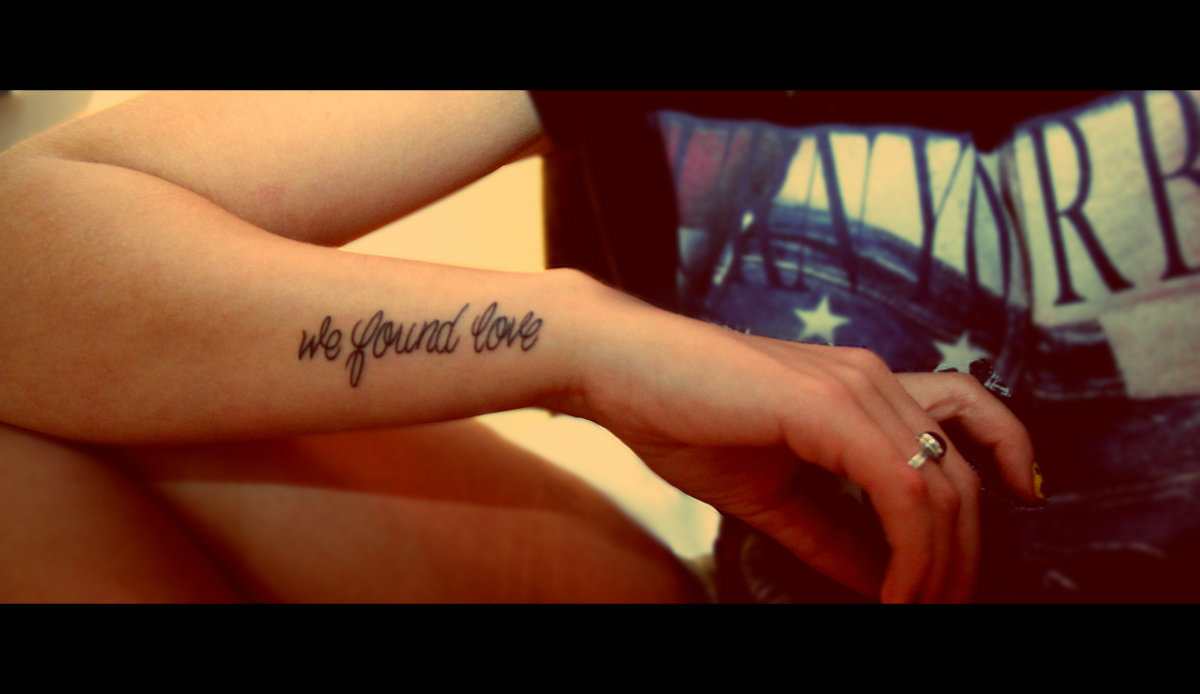 Script wrist tattoo for women