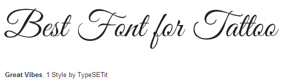 great-vibes estilo / fonte - Best Tattoo Fonts