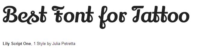 lily script one estilo / fonte