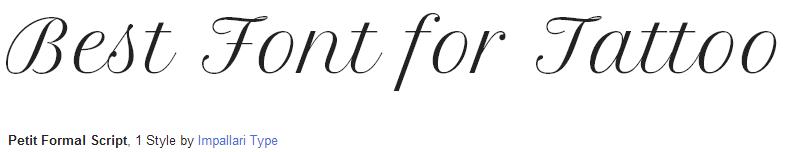 petit-formal estilo / fonte