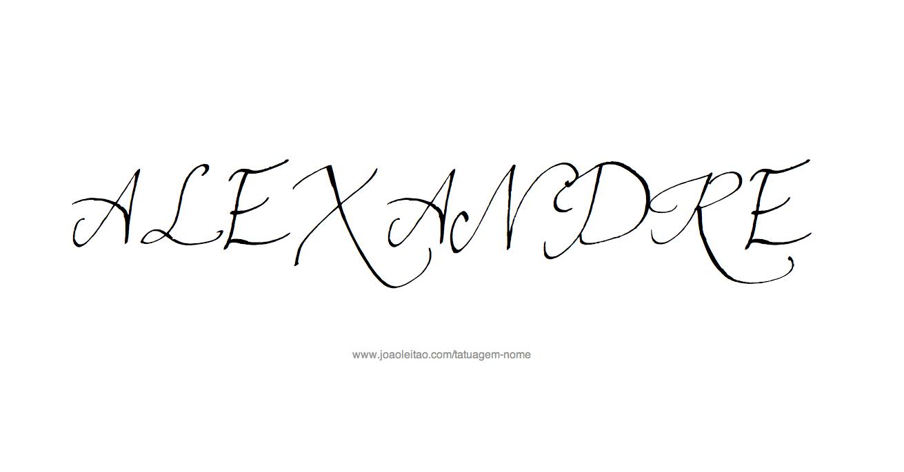 Desenho de Tatuagem com o Nome Alexandre