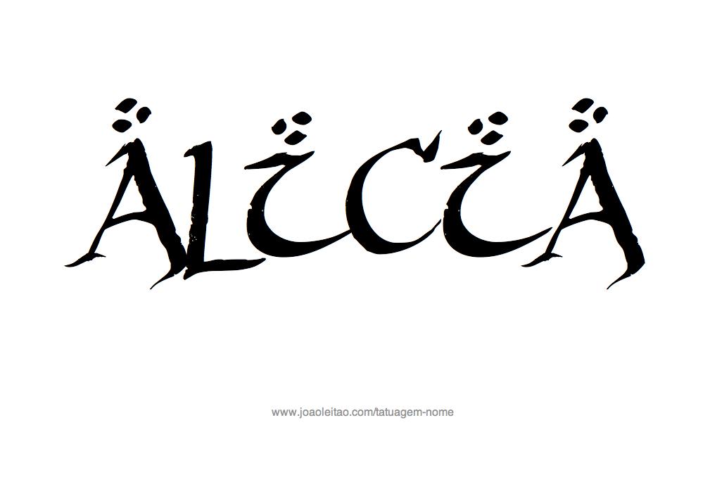 Desenho de Tatuagem com o Nome Alicia
