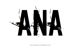 Desenho Tatuagem com o Nome Ana