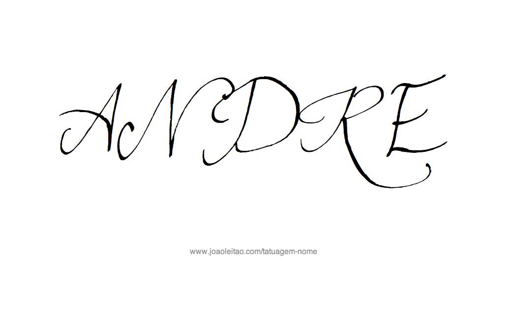 Desenho Tatuagem com o Nome André