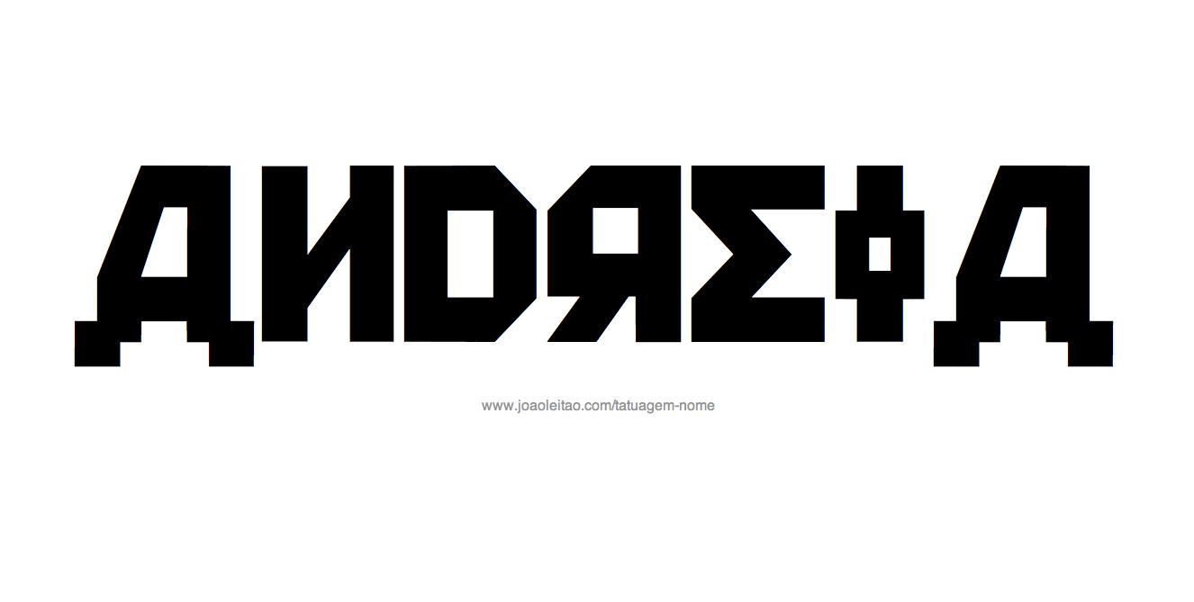 Desenho de Tatuagem com o Nome Andreia