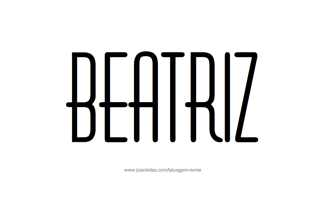 Desenho Tatuagem com o Nome Beatriz