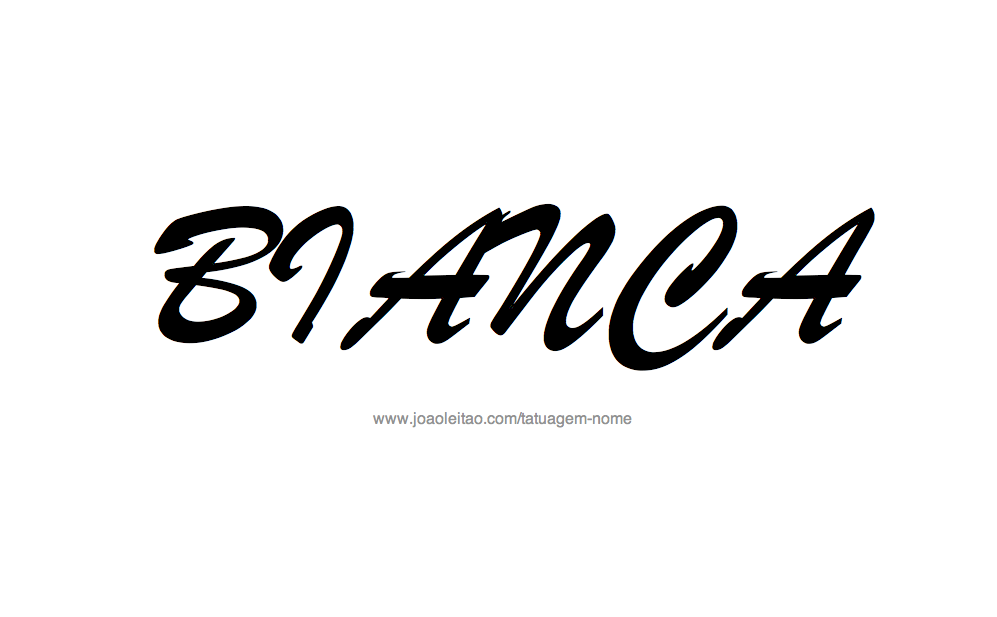 Desenho de Tatuagem com o Nome Bianca