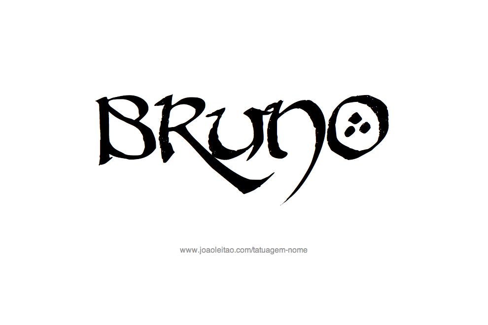 Desenho de Tatuagem com o Nome Bruno
