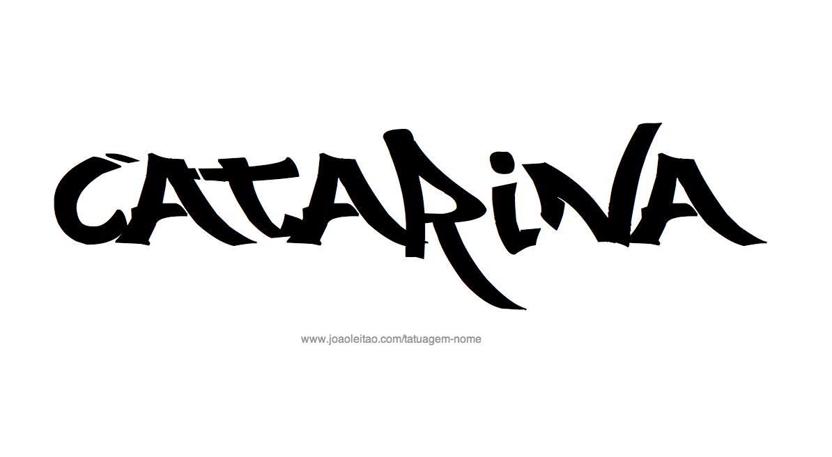 Desenhos de Tatuagem com o Nome Catarina