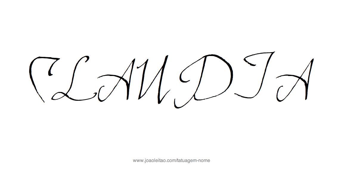 Desenho de Tatuagem com o Nome Claudia