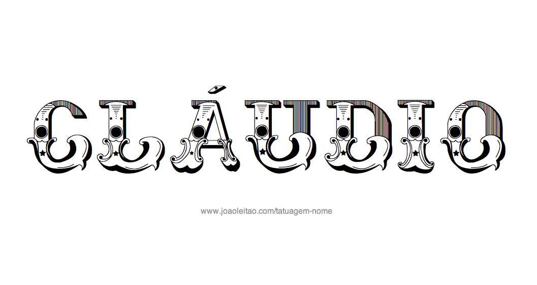Desenho de Tatuagem com o Nome Cláudio