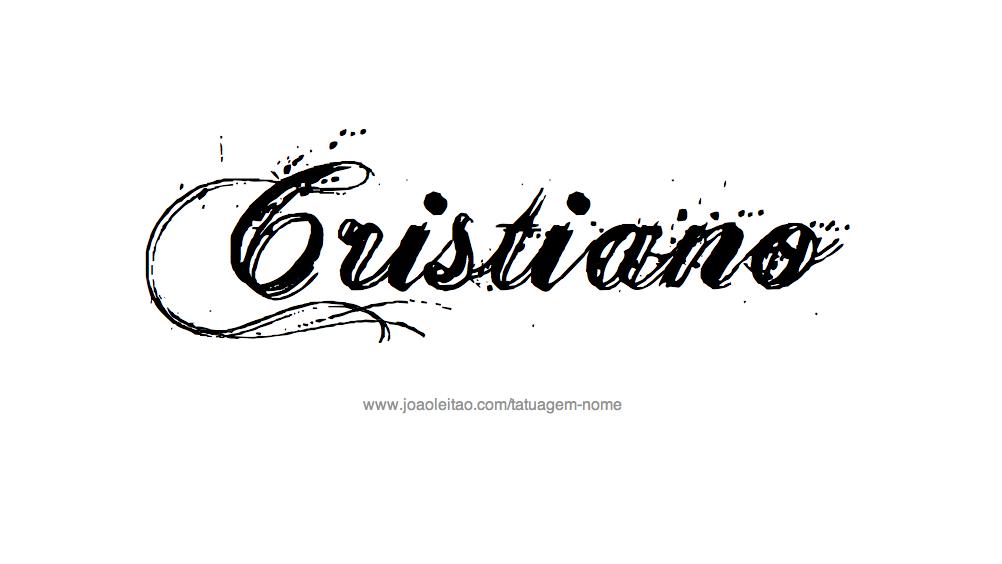 Desenho de Tatuagem com o Nome Cristiano