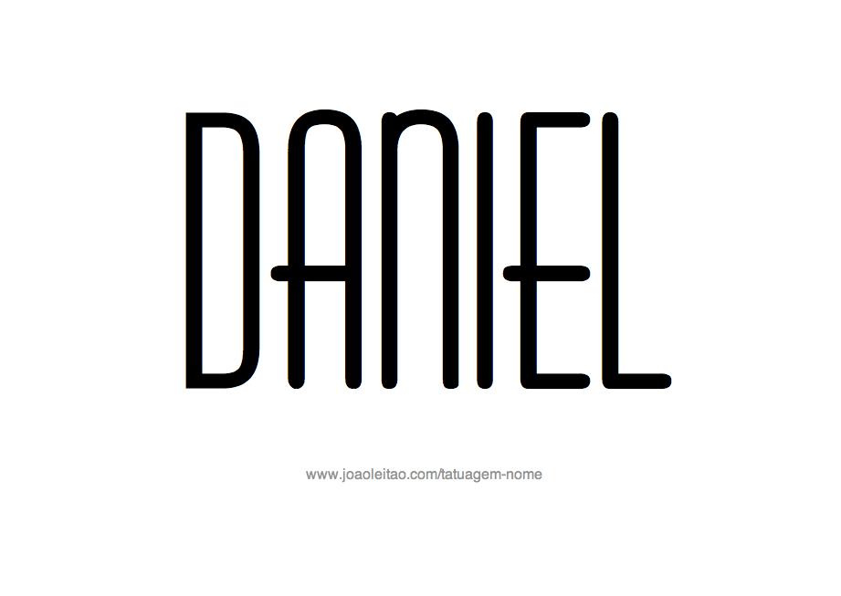 Desenho de Tatuagem com o Nome Daniel