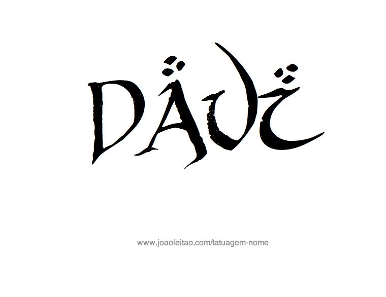 Desenho de Tatuagem com o Nome Davi
