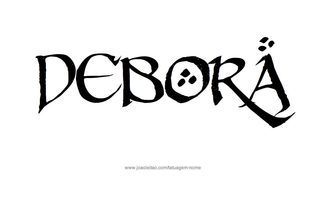 Desenho de Tatuagem com o Nome Debora