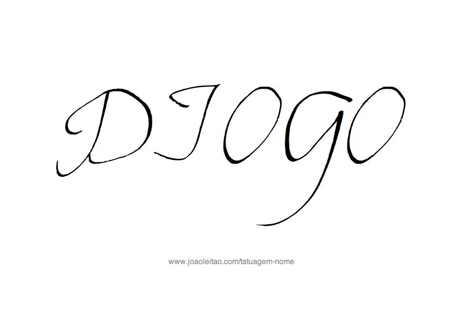 Desenho Tatuagem com o Nome Diogo