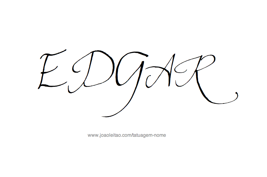 Desenho de Tatuagem com o Nome Edgar