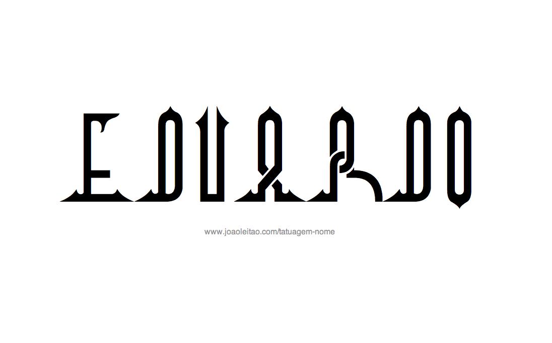 Desenho de Tatuagem com o Nome Eduardo