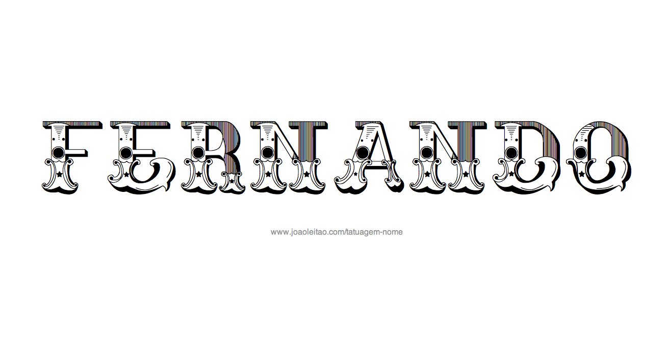 Desenho de Tatuagem com o Nome Fernando