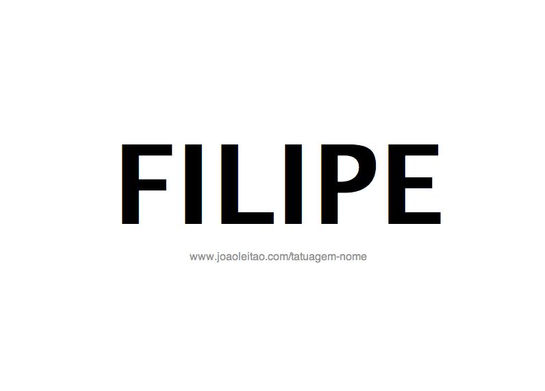 Desenho de Tatuagem com o Nome Filipe