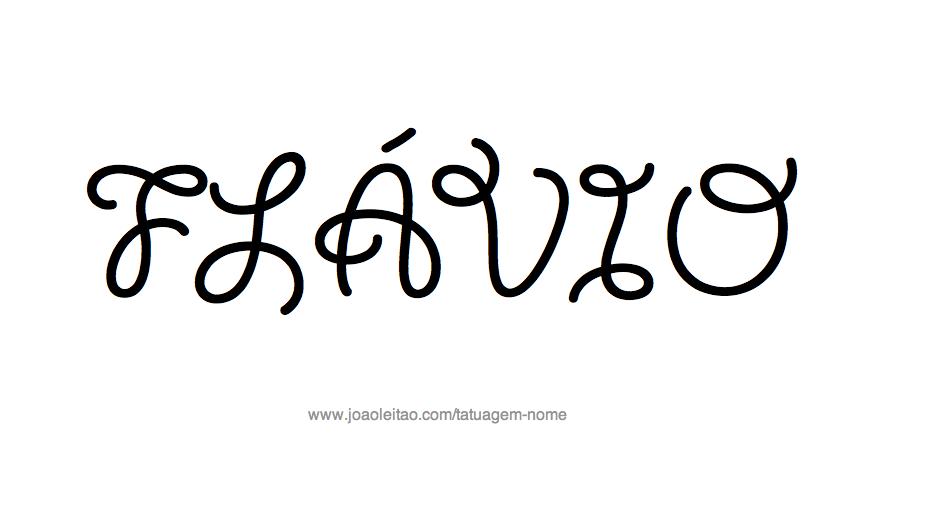 Desenho de Tatuagem com o Nome Flávio