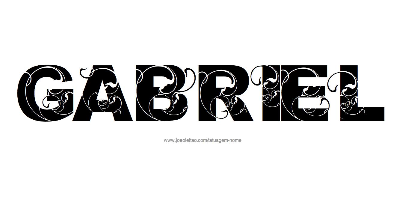 Desenho Tatuagem com o Nome Gabriel