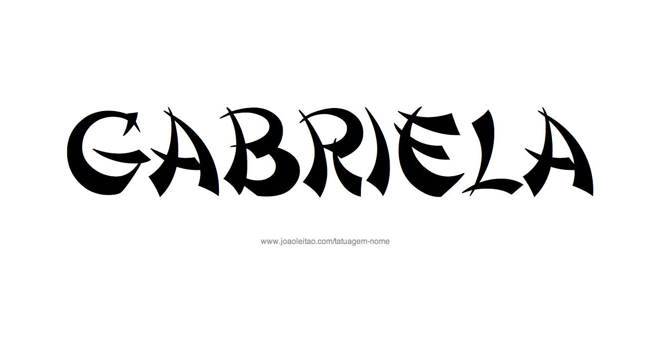 Desenho de Tatuagem com o Nome Gabriela