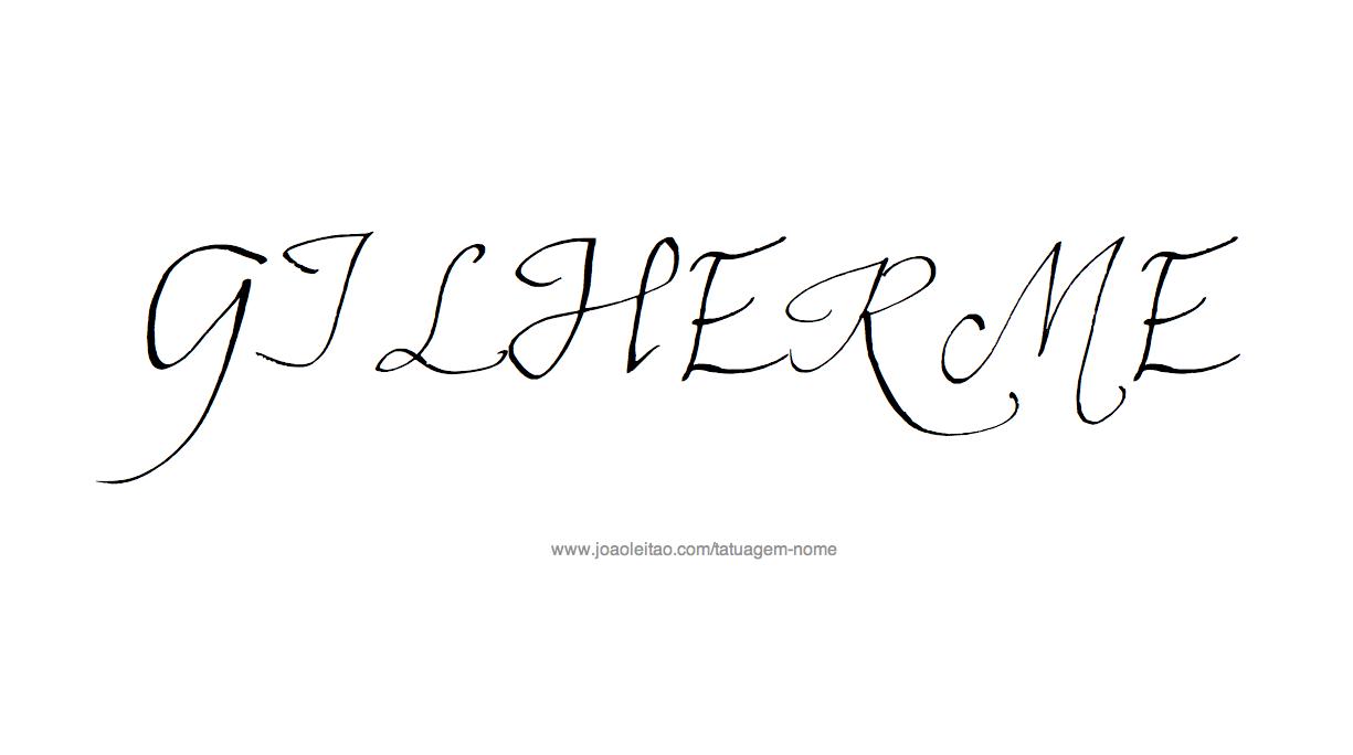 Desenho Tatuagem com o Nome Guilherme