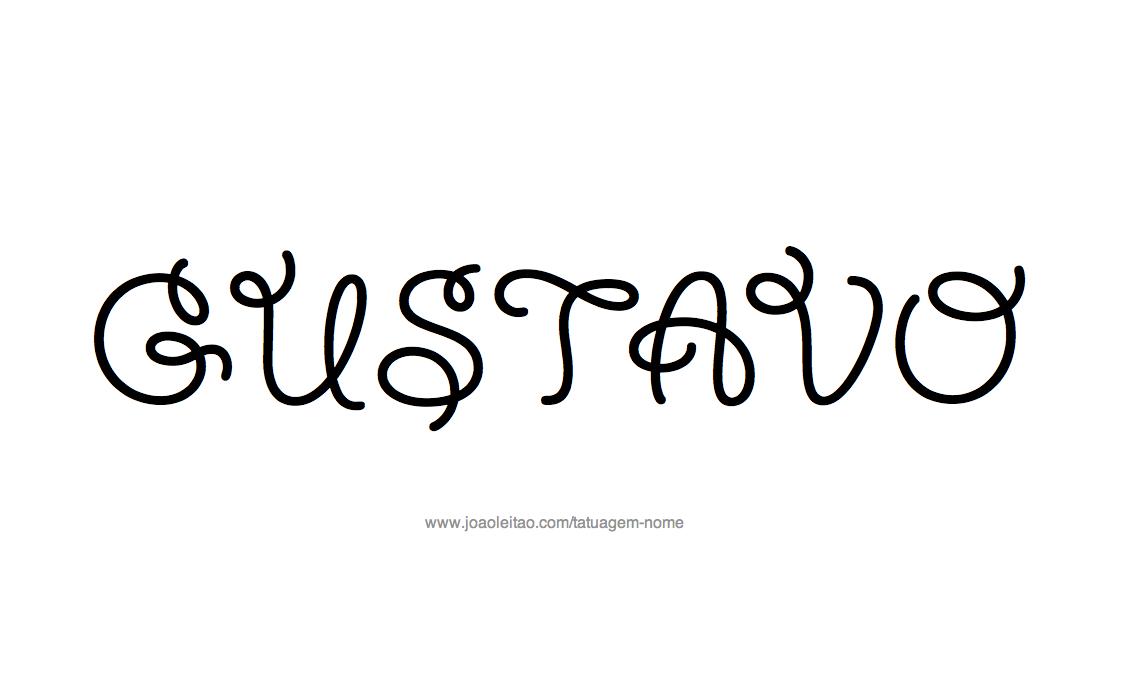 Desenhos de tatuagem com o nome gustavo desenho tatuagem com o nome gustavo altavistaventures Image collections