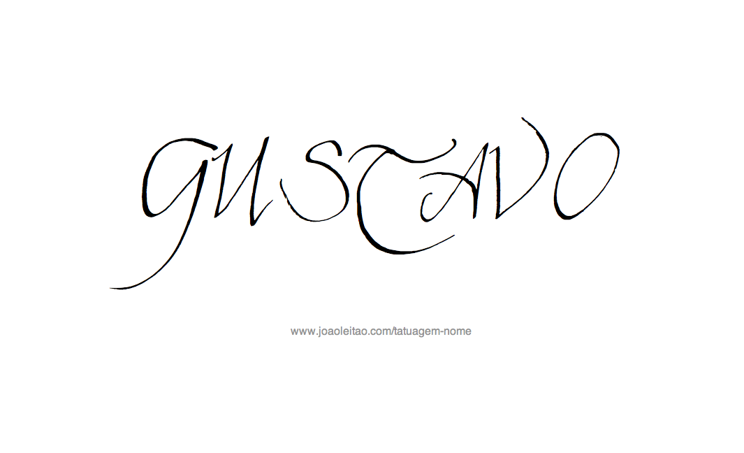 Desenho Tatuagem com o Nome Gustavo