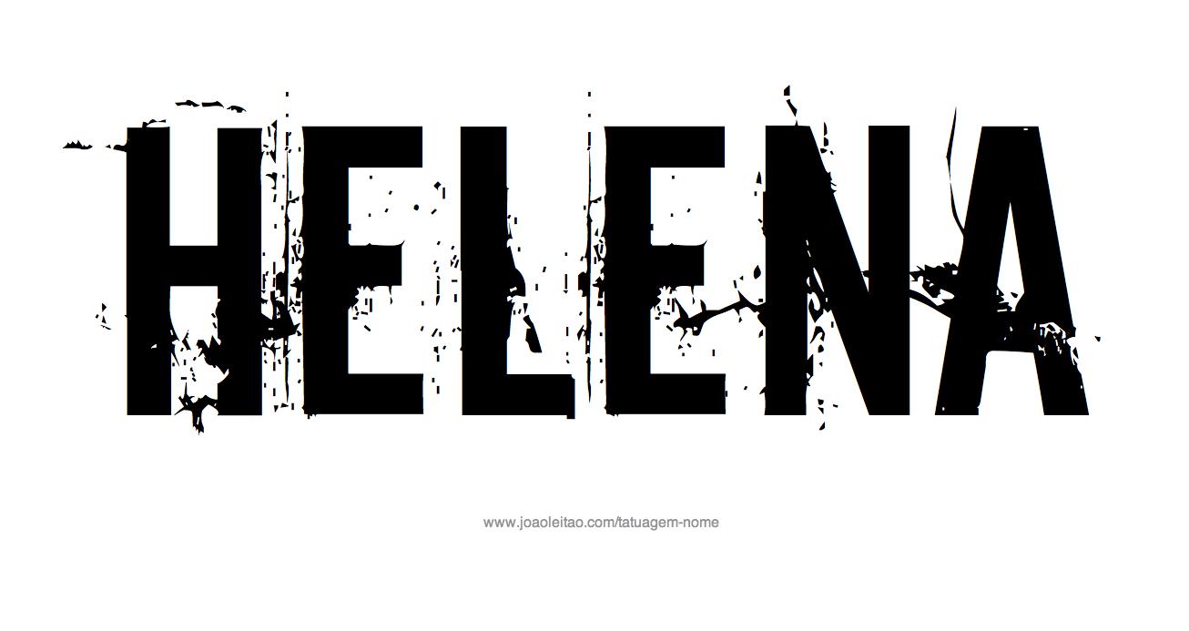 Desenho de Tatuagem com o Nome Helena