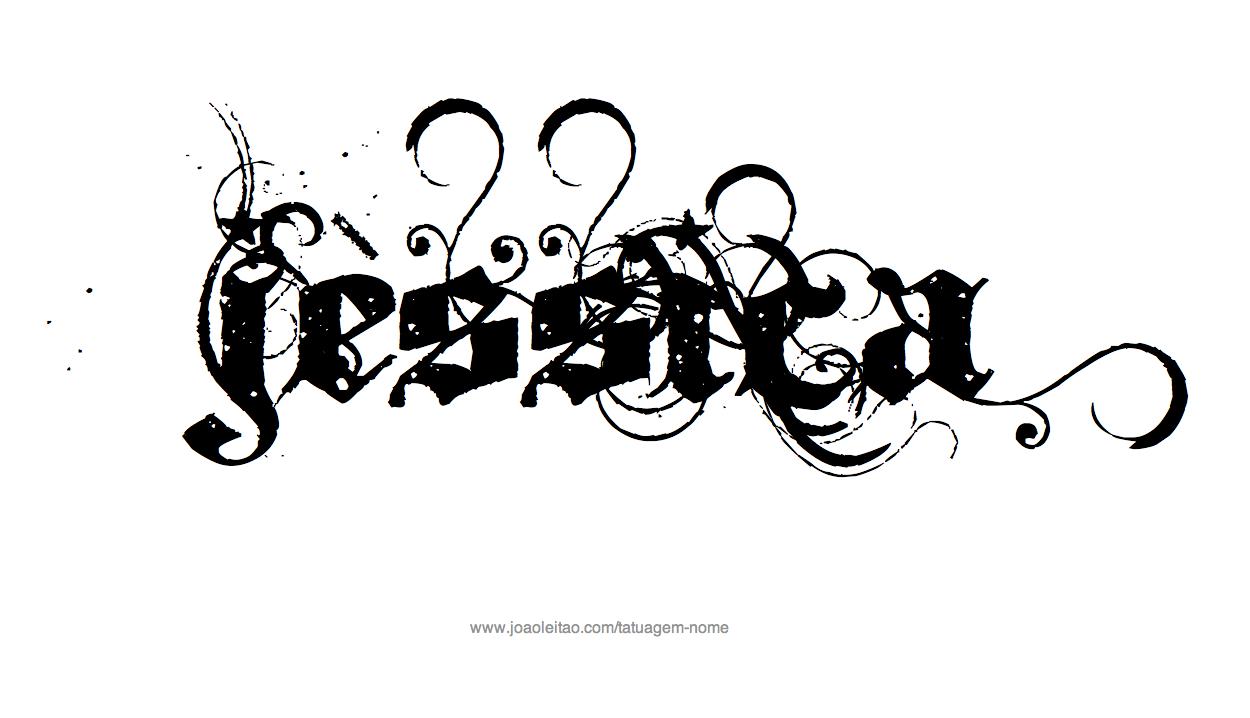desenhos de tatuagem com o nome jessica