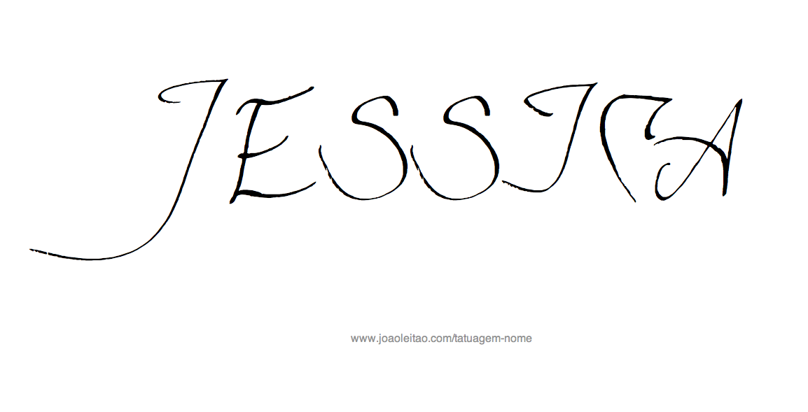 Desenho de Tatuagem com o Nome Jessica