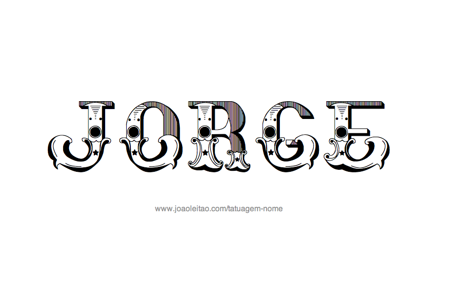 Jorge tatuagem nome