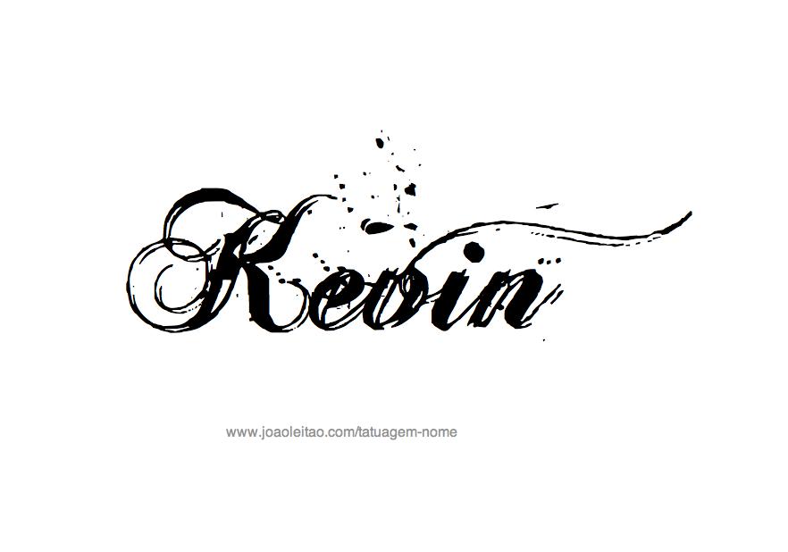 Desenho de Tatuagem com o Nome Kevin