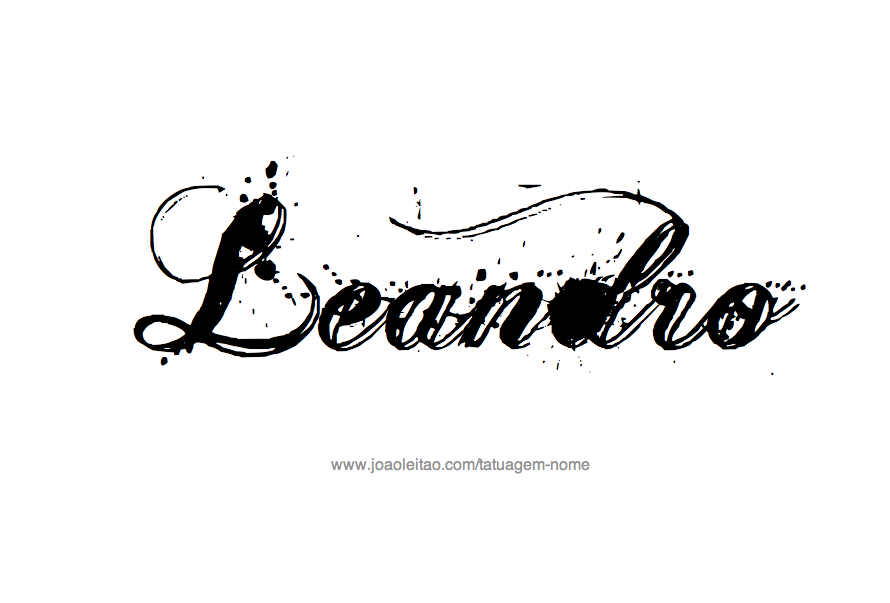 Desenho de Tatuagem com o Nome Leandro