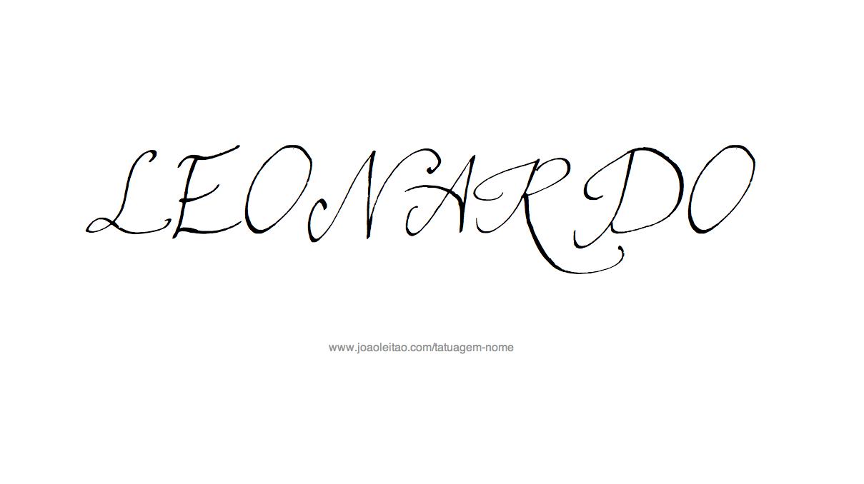Desenho de Tatuagem com o Nome Leonardo