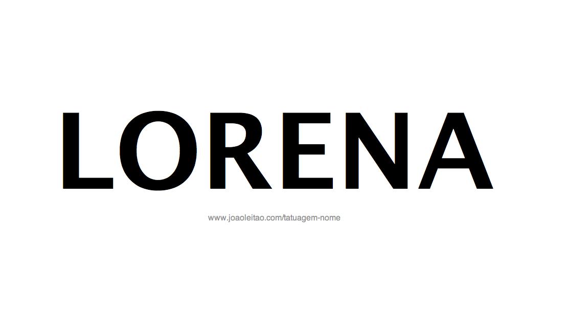 Desenho de Tatuagem com o Nome Lorena